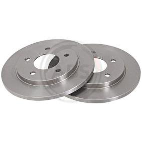 A.B.S.  16459 Bremsscheibe Bremsscheibendicke: 12,8mm, Felge: 5-loch, Ø: 257,0mm