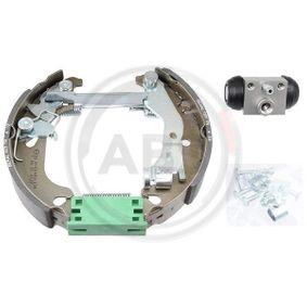 Brake Set, drum brakes 111452 PUNTO (188) 1.2 16V 80 MY 2004