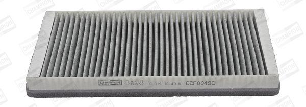 CHAMPION  CCF0049C Filter, Innenraumluft Länge: 327mm, Breite: 165mm, Höhe: 34mm