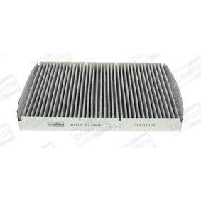 Filter, Innenraumluft Länge: 286mm, Breite: 206mm, Höhe: 30mm mit OEM-Nummer JZW 819 653