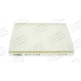 Filter, Innenraumluft Länge: 216mm, Breite: 163mm, Breite 1: 161mm, Höhe: 25mm mit OEM-Nummer 77362394