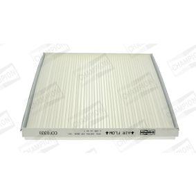 Filter, Innenraumluft Länge: 262mm, Breite: 228mm, Höhe: 30mm mit OEM-Nummer 180 2422