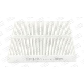 Filter, interior air Length: 225mm, Width: 112mm, Height: 30mm with OEM Number 80292-SCA-E11