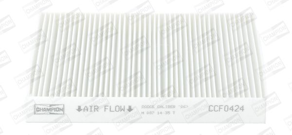 CHAMPION  CCF0424 Filter, Innenraumluft Länge: 217mm, Breite: 195mm, Höhe: 25mm