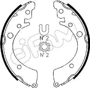 CIFAM  153-149 Juego de zapatas de frenos Ancho: 35mm