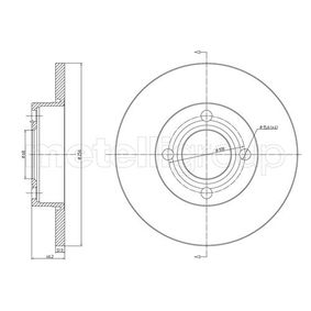 Bremsscheibe Bremsscheibendicke: 13,0mm, Lochanzahl: 4, Ø: 256,0mm mit OEM-Nummer 431.615.301