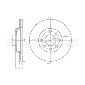 Bremsscheibe Bremsscheibendicke: 19,9mm, Lochanzahl: 4, Ø: 236,0mm mit OEM-Nummer 90 00 8006