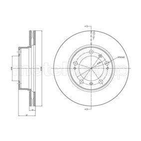Bremsscheibe Bremsscheibendicke: 24,0mm, Lochanzahl: 5, Ø: 297,8mm mit OEM-Nummer 986 351 401 05