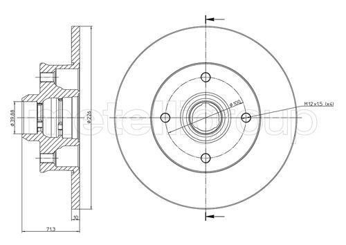 CIFAM  800-117 Bremsscheibe Bremsscheibendicke: 10,0mm, Lochanzahl: 4, Ø: 226,0mm
