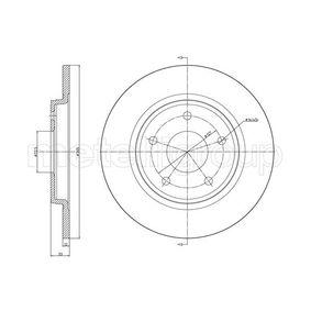 CIFAM  800-1382C Bremsscheibe Bremsscheibendicke: 12,0mm, Lochanzahl: 5, Ø: 305,0mm