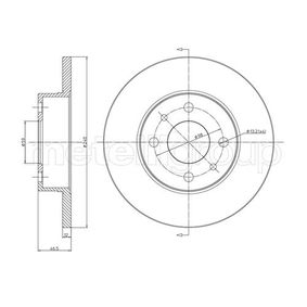 Bremsscheibe Bremsscheibendicke: 12,0mm, Lochanzahl: 4, Ø: 240,0mm mit OEM-Nummer 71 738 423