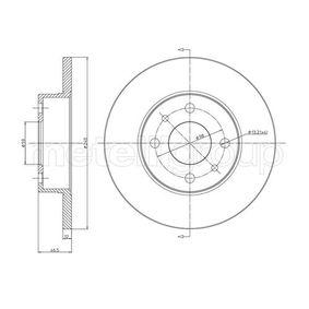 CIFAM  800-156 Bremsscheibe Bremsscheibendicke: 12mm, Lochanzahl: 4, Ø: 240mm