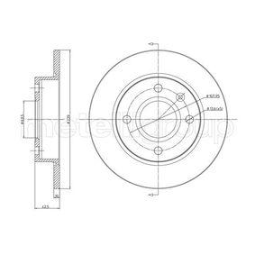 CIFAM  800-168 Bremsscheibe Bremsscheibendicke: 10,0mm, Lochanzahl: 4, Ø: 239,0mm