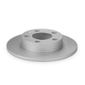 Bremsscheibe Bremsscheibendicke: 9,0mm, Lochanzahl: 5, Ø: 232,0mm mit OEM-Nummer 1J0 615 601 P