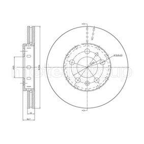 Bremsscheibe Bremsscheibendicke: 22,0mm, Lochanzahl: 5, Ø: 256,0mm mit OEM-Nummer 6R0615301