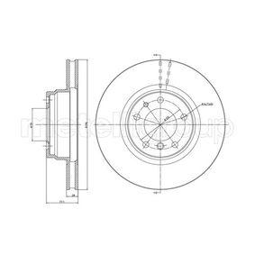 Bremsscheibe Bremsscheibendicke: 28,0mm, Lochanzahl: 5, Ø: 316,0mm mit OEM-Nummer 34111162093
