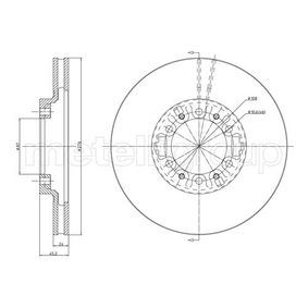 Brake Disc Brake Disc Thickness: 24,0mm, Num. of holes: 6, Ø: 276,0mm with OEM Number MB 928697