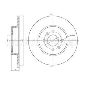 Bremsscheibe Bremsscheibendicke: 12,0mm, Lochanzahl: 4, Ø: 280,0mm mit OEM-Nummer 7701 207 227
