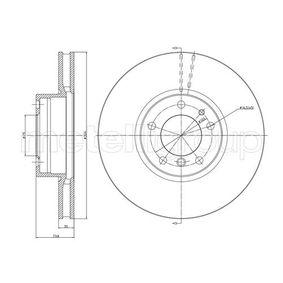Bremsscheibe Bremsscheibendicke: 30,0mm, Lochanzahl: 5, Ø: 324,0mm mit OEM-Nummer 34 11 1 165 859