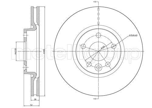 Bremsscheiben 800-896C CIFAM 800-896C in Original Qualität