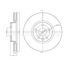 Bremsscheibe Bremsscheibendicke: 28,0mm, Lochanzahl: 5, Ø: 300,0mm mit OEM-Nummer LR 000571