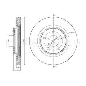 Bremsscheibe Bremsscheibendicke: 26,0mm, Lochanzahl: 5, Ø: 296,0mm mit OEM-Nummer 40206 JD00B