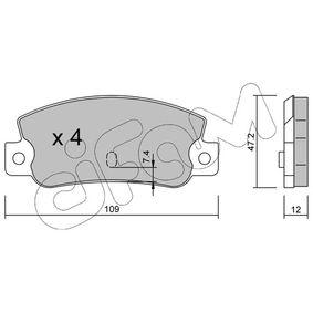 Bremsbelagsatz, Scheibenbremse Dicke/Stärke 1: 12,0mm mit OEM-Nummer 5 888 939