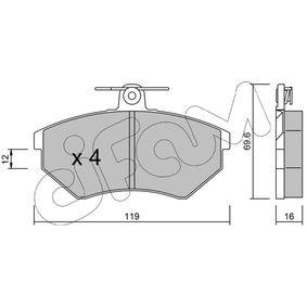 Bremsbelagsatz, Scheibenbremse Dicke/Stärke 1: 16,0mm mit OEM-Nummer 357 698 151 D