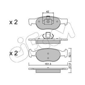 Brake Pad Set, disc brake 822-079-1 PUNTO (188) 1.2 16V 80 MY 2002