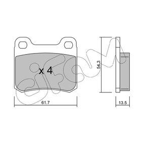 Bremsbelagsatz, Scheibenbremse Dicke/Stärke 1: 13,5mm mit OEM-Nummer A 000 420 88 20