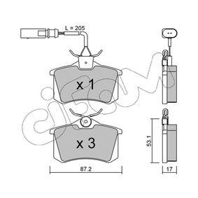 Bremsbelagsatz, Scheibenbremse Dicke/Stärke 1: 17,0mm mit OEM-Nummer 1 343 513