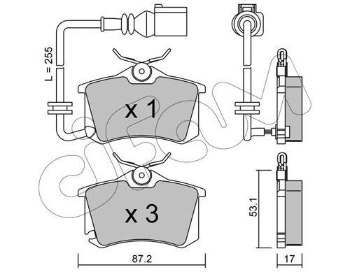 CIFAM  822-100-4 Bremsbelagsatz, Scheibenbremse Dicke/Stärke 1: 17,0mm