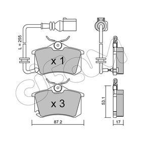 Bremsbelagsatz, Scheibenbremse Dicke/Stärke 1: 17,0mm mit OEM-Nummer 6Q0 698 451