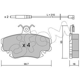 Bremsbelagsatz, Scheibenbremse Dicke/Stärke 1: 18,0mm mit OEM-Nummer 7711130 071
