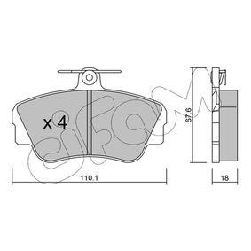 Brake Pad Set, disc brake Thickness 1: 18,0mm with OEM Number 3344 787