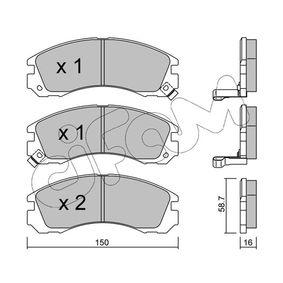 Kit pastiglie freno, Freno a disco 822-134-0 Pajero Sport 1 SUV (K7_, K9_) 2.8 TDi (K77T) ac 2001