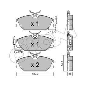 Bremsbelagsatz, Scheibenbremse Dicke/Stärke 1: 18,0mm mit OEM-Nummer 77012-03070