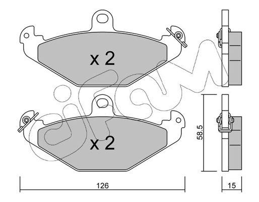 CIFAM  822-165-0 Bremsbelagsatz, Scheibenbremse Dicke/Stärke 1: 15,0mm