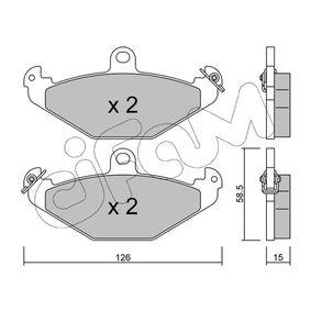 Bremsbelagsatz, Scheibenbremse Dicke/Stärke 1: 15,0mm mit OEM-Nummer 6025308 186