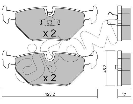 CIFAM  822-180-0 Bremsbelagsatz, Scheibenbremse Dicke/Stärke 1: 17,0mm