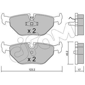 Bremsbelagsatz, Scheibenbremse Dicke/Stärke 1: 17,0mm mit OEM-Nummer 3421 1162 446