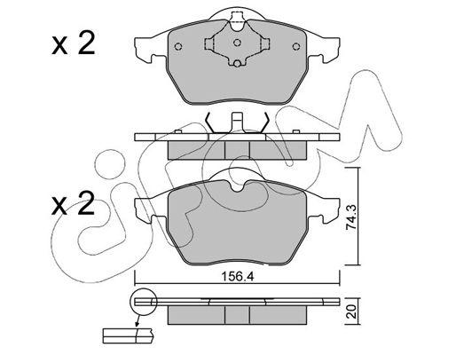 CIFAM  822-181-2 Bremsbelagsatz, Scheibenbremse Dicke/Stärke 1: 20,0mm