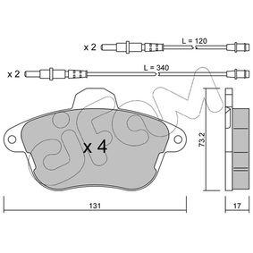 Bremsbelagsatz, Scheibenbremse Art. Nr. 822-184-0 120,00€