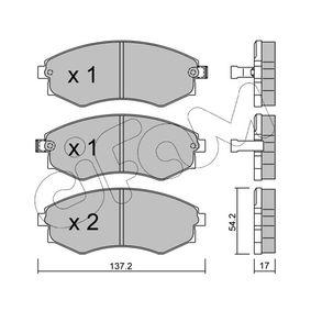Bremsbelagsatz, Scheibenbremse Dicke/Stärke 1: 17,0mm mit OEM-Nummer 58101-3CA20