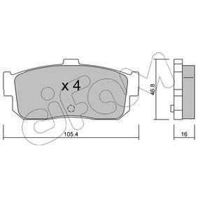 Bremsbelagsatz, Scheibenbremse Dicke/Stärke 1: 16,0mm mit OEM-Nummer 44060-5M490