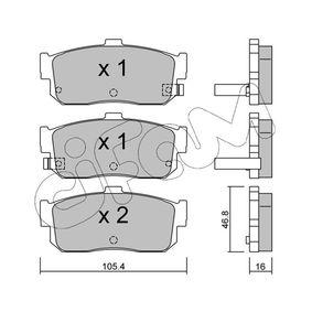 Bremsbelagsatz, Scheibenbremse Dicke/Stärke 1: 16,0mm mit OEM-Nummer 44060 4U090