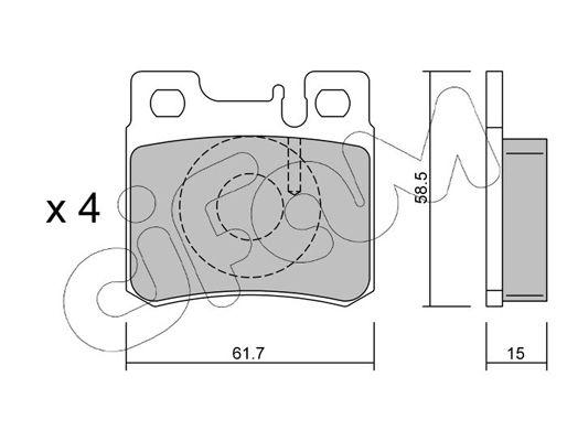 CIFAM  822-203-0 Bremsbelagsatz, Scheibenbremse Dicke/Stärke 1: 15,0mm