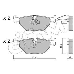 Bremsbelagsatz, Scheibenbremse Dicke/Stärke 1: 17,0mm mit OEM-Nummer 34 21 1 163 395