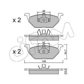 Bremsbelagsatz, Scheibenbremse Dicke/Stärke 1: 19,5mm mit OEM-Nummer 6Q0 698 151.