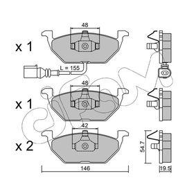 Bremsbelagsatz, Scheibenbremse Dicke/Stärke 1: 19,5mm mit OEM-Nummer JZW-698-151